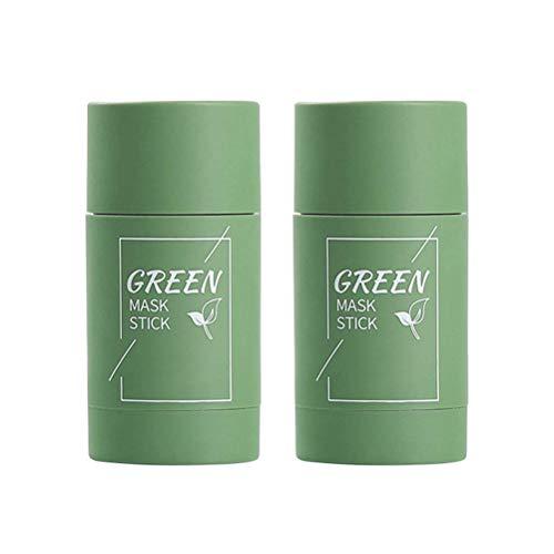 Grüner Tee Peel Off Maske, Tiefenreinigungs Green Tea Purifying Clay Stick Mask, Ölkontrolle Feuchtigkeitsspendende feste Maske, Mitesser Akne Entferner Cleansing Gesichtsmaske Poren schrumpfen