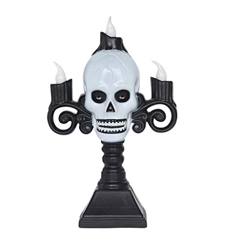 Fasclot Halloween Decoration Props Scary Ghost Head Lamp Plastic Candle Holder Home & Garden Decoration & Hangs