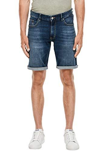 Q/S designed by - s.Oliver Herren Regular Fit: Bermuda-Jeans Blue 34