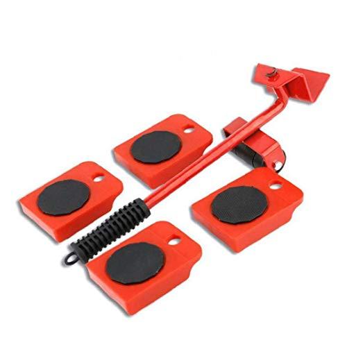 xuew Schwere Möbel Shifter Lifter Räder bewegen Kit Slider Mover Easy Move Entfernen Red