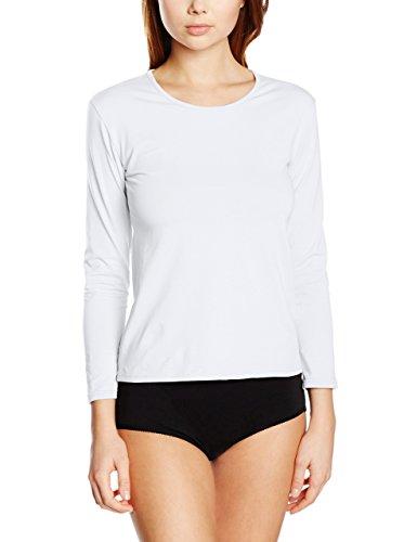 EVEN 686/Pack 3, Camiseta Interior para Mujer, Blanco (White), Medium