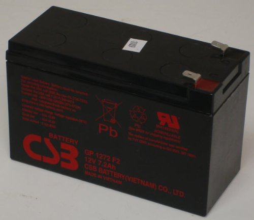 CSB GP1272F2 - 12 Volt/8.0 Amp Hour Sealed Lead Acid Battery with...