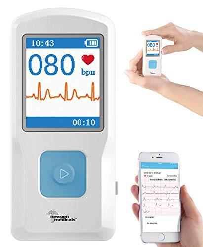 newgen medicals EKG Gerät: Mobiles medizinisches EKG-Messgerät mit PC-Software und App (Herzfrequenzmesser)
