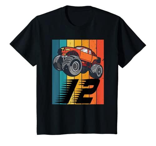 Niños 12 años Monster Truck Car Cumpleaños Camiseta