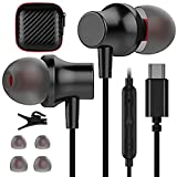 USB C Headphone, COOYA USB Type C Earphones Wired Earbuds Magnetic Noise Canceling In-Ear Headset with Microphone for iPad Pro Samsung Galaxy S21 Ultra S20 FE Note 10 Pixel 5 4a 3a 4 XL Oneplus 9 8 8T