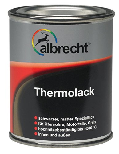 Lackfabrik J. Albrecht GmbH & Co. KG 3400606770000000125 Thermolack matt 500 °C schwarz 125ml