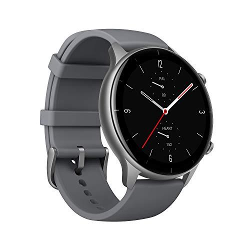Smartwatch Amazfit GTR 2e, Relógio Inteligente, 2.5D Curved Bezel-Less Design, 1.39 〞Always-On Amoled Display, SpO2 & Stress Monitor, GPS integrado, Bateria de 24 dias, 90+ Modelos Esportivos, 50+ mostradores de relógio (Cinza)
