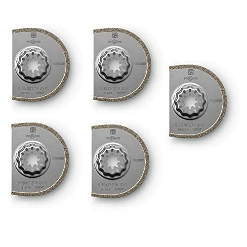 Fein 63502216230-75 mm de diamantes hoja de sierra con punta segmentada (paquete de 5)