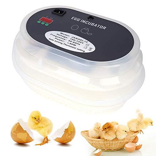 LULUTING 9 Huevos incubadora, Completamente automático Digital Aves Hatcher Inteligente de Control de Temperatura for incubar de Pollo Pato Ganso Aves