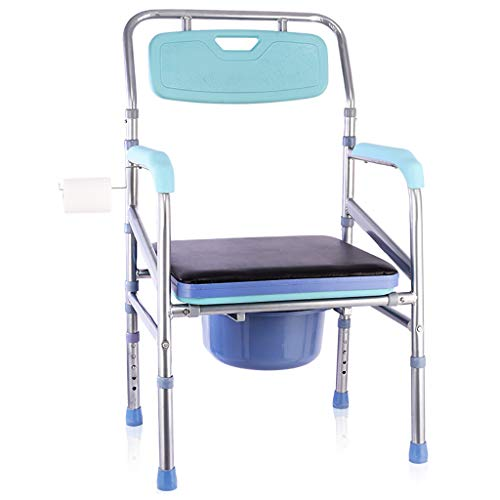 Toilettensitz Faltbarer Toiletten-Toilettenschemel, Tragbarer Bidet-Stuhl-Duschbad-Stuhl FüR äLtere Behinderte Schwangere Frauen