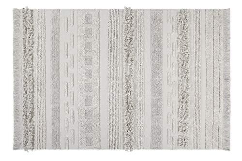 Lorena Canals Tapis Lavable Air Dune White Coton Recyclé -Beige- 140x200 cm