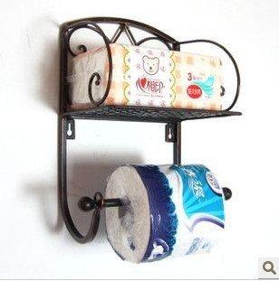 ZHFC creative noir document porte - serviette salle de bains piles mur toilettes toilettes papier rack toilettes brosse à dents salle de bains papier toilette section