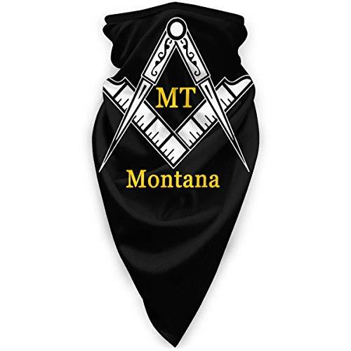 LCYYDECO Montana Freemason bufanda deportiva unisex a prueba de viento al aire libre calentador de cuello Bandana pasamontañas