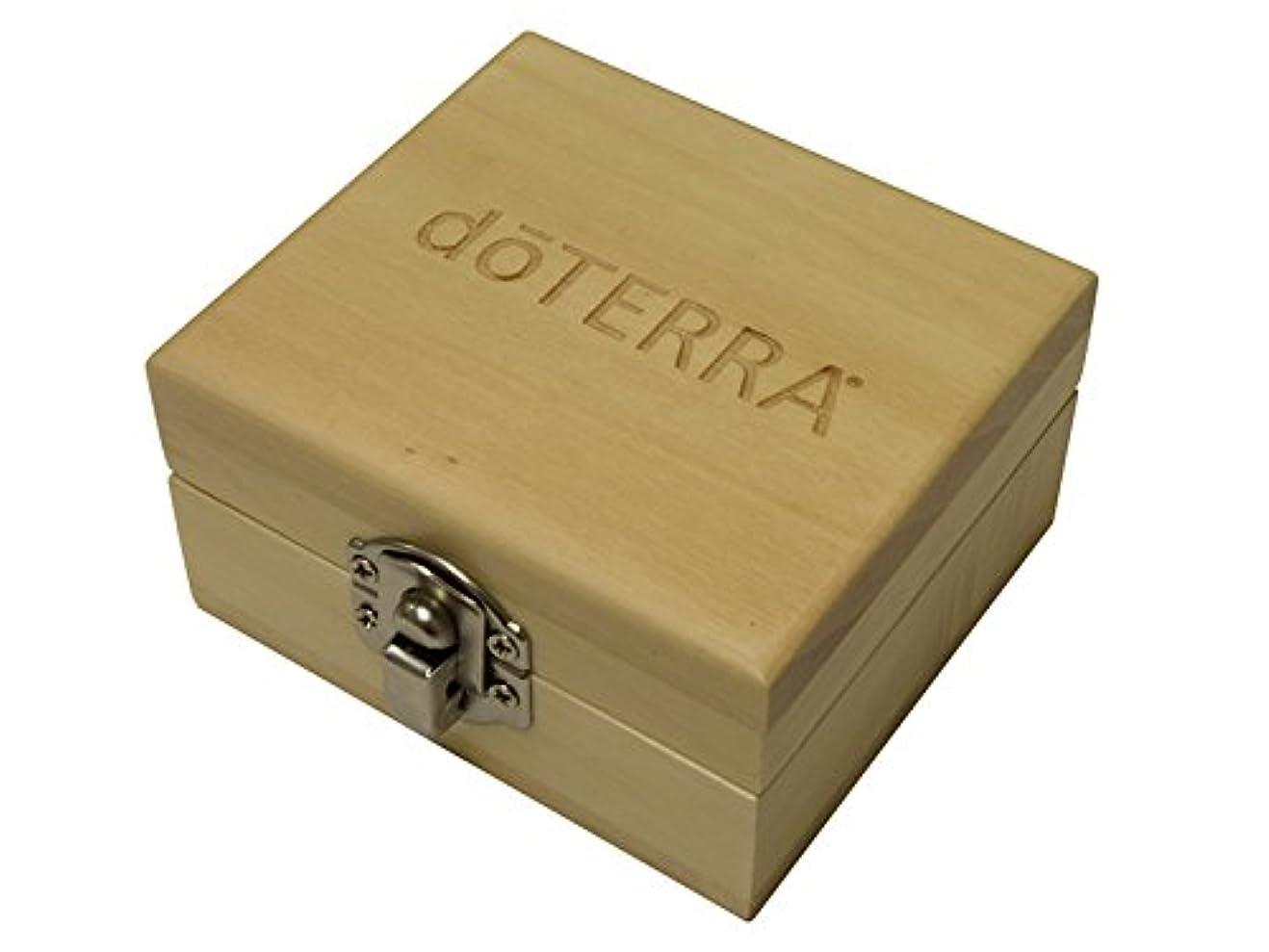 直面する義務付けられた封筒(ドテラ) doTERRA ウッドボックス ライトブラウン ミニサイズ 木箱 エッセンシャルオイル 精油 整理箱