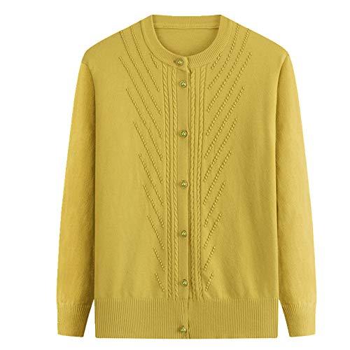 N\P Edad Media Madre de Punto Cardigan Suéter Abrigos de Primavera de las Mujeres Prendas de Punto Tops Más el Tamaño 4XL Femenino de Punto
