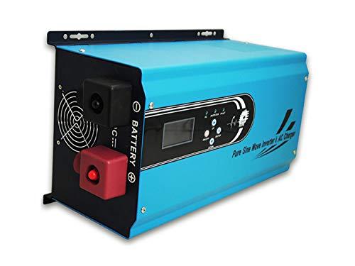 B2KEY® Reine Sinus Wechselrichter Power Frequenzmaschine Photovoltaik Wechselrichter Solar Wechselrichter Lademaschine 4000W DC 24V / 48V bis AC 220V
