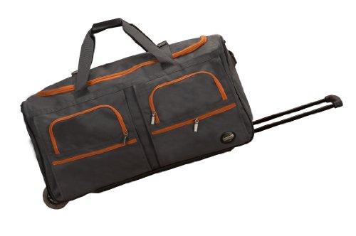 Rockland Rolling Duffel Bag, Charcoal, 30-Inch