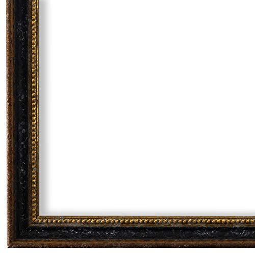 Bilderrahmen Schwarz Braun Gold 28 x 35 cm - Antik, Barock, Klassisch - Alle Größen - handgefertigt - Galerie-Qualität - WRF - Empoli 1,5
