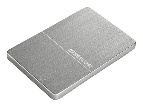 Freecom mHDD, mobile HDD, externe tragbare Festplatte, 2 TB, Metallgehäuse schlank, USB 3.0, Farbe Silber gebürstet, 56381