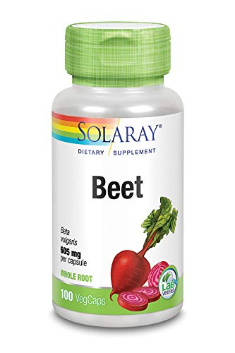 Solaray Beet Root 605mg | May Support Cardiovascular Health & Athletic Performance, Kidney, Liver & Blood Health | Non-GMO | Vegan | 100 VegCaps