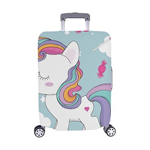 Patrón de Unicornio Maleta de Viaje Spandex Maleta Protectora para Viaje Cubierta Protectora para de Maleta 28.5 X 20.5 Inch