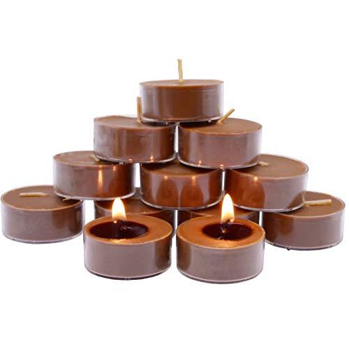 TELOSMA Natural Soy Wax Tealight Candles