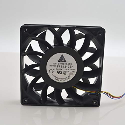 for Delta FFB1212SH 12025 Fan 12V 1.24A 12CM 120MM pwm Gale Volume Cooling Fan