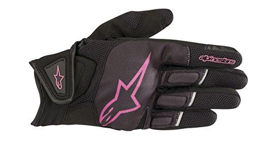 Alpinestars Motorradhandschuhe Stella Atom Gloves Black Fuchsia, Schwarz/Fuchsia, S, 35940181039- S