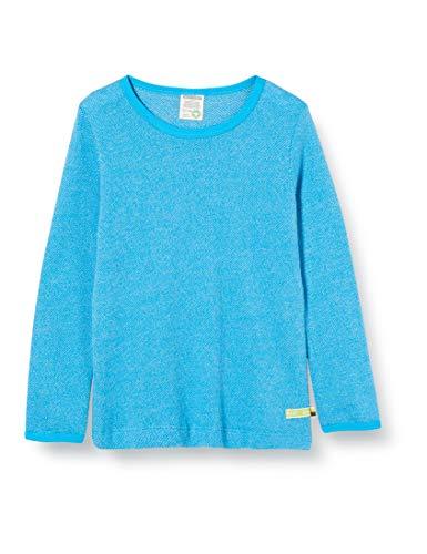 loud + proud Kinder-Unisex Melange Strick T-Shirt, Aqua, 122/128