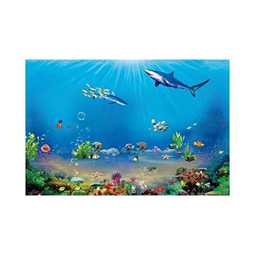 JIAHUI Telones de fondo para fotografía, castillo subacuático, algas marinas, fotos de burbujas de fondos para fotos de cumpleaños de bebé (color: NZY06800, tamaño: tela fina de 120 x 80 cm)