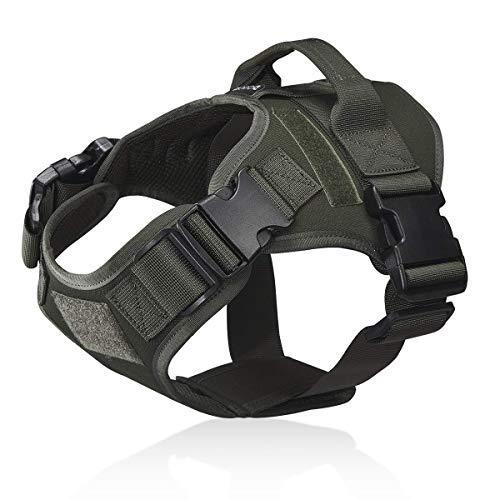 Dociote Taktisches Hundegeschirr militär für mittelgroße große Hunde M Armeegrün