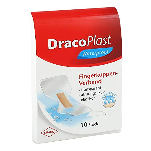 DracoPlast Waterproof Fingerkuppenverband, 10 St. Pflaster