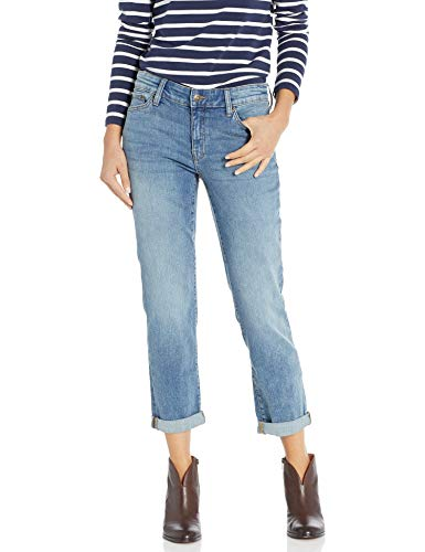 Chaps Women's Slim Fit Stretch Denim, Light Authentic wash, 8