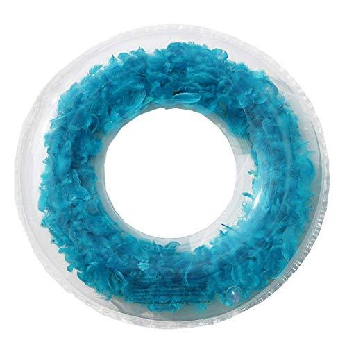 Piscina de Agua de Pluma Inflable Círculo Azapa Flotador (Azul 90 cm) WTZ012 (Color : Blue)