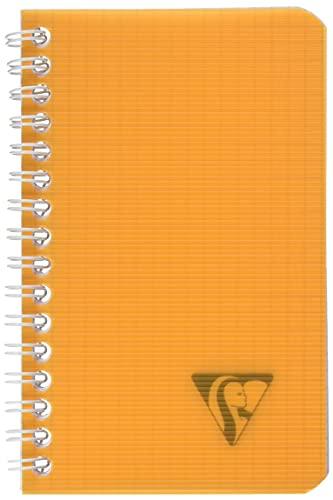 Clairefontaine 328425C Collection Linicolor Fresh Un Carnet à Spirale - 9x14 cm - 100 Pages Petits Carreaux - Papier Blanc 90 g - Couverture Polypro Transparent Couleur Aléatoire