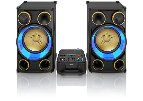 Philips NTRX900/12 XXL Party-System (3600 Watt, Bluetooth, NX Bass, CD, dynamische LED-Beleuchtung) schwarz