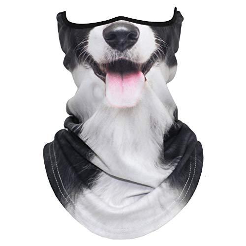 Dantazz Schlauchschal Katze Hund Tier Drucken Multifunktionstuch Sommer Atmungsakt Dünn Motorrad Mundschutz Halstuch für Damen und Herren (E)