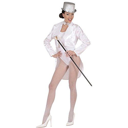 Aptafêtes - CS928792/S - Déguisement Frac Cabaret en Satin Blanc - Taille S
