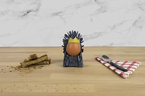 Geschenk Republik GR450080 Throne Eierbecher, Medium, GRAU