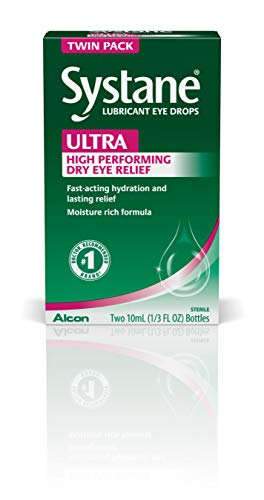 Systane Ultra Lubricant Eye Drops, Twin Pack, 10-mL Each,packaging may vary
