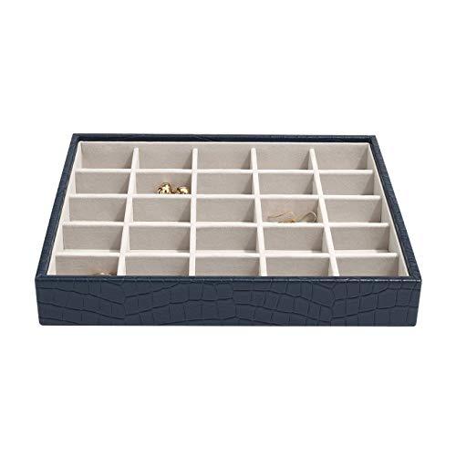 Stackers Navy Croc Classic Medium Jewellery Box Trinkets Layer