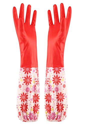 Des gants imperméables Velvet Worm Gants de nettoyage de la vaisselle -09