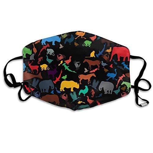 Neuheit Schals, Farbe Zoo Muster Warme Unisex Mode Warme Anti-Staub Waschbare Wiederverwendbare Abdeckung
