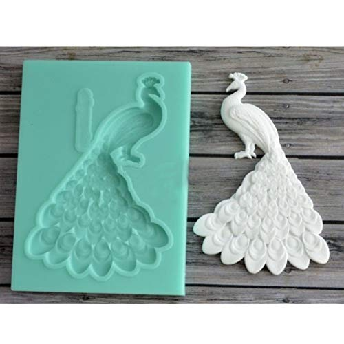 Cute Peacock DIY 3D Silicone Mold Making Ice Blocks Candy Fondant Chocolates Soaps Cake Decorating Tools Mousse Jelly Gumpaste Candles Mold