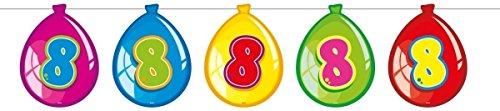 Folat - Guirnalda con Globos De Cumpleaños 8 años - Multicolor - 10 Metros