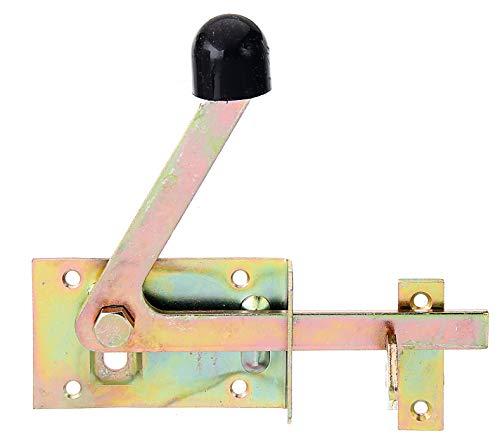 GAH-Alberts 210397 Gartentorfalle | speziell für schmale Rahmenhölzer | galvanisch gelb verzinkt | 100 x 60 mm