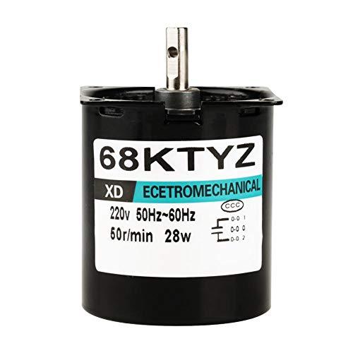 Synchroonmotor, AC220V 28W 5-80r / mini, elektrisch, verstelbare permanente magneet-synchroonmotor met laag toerental met de klok in/tegenklok in(50 rpm)