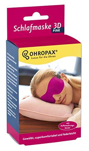 Ohropax Schlafmaske 3D pink, 1er Pack (1 x 1 Stück)