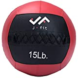 j/fit Medicine Ball, Red/Black, 15-Pound