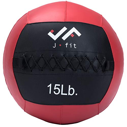 j/fit Wall Medicine Ball, Red/Black, 15 LB (20-0054)